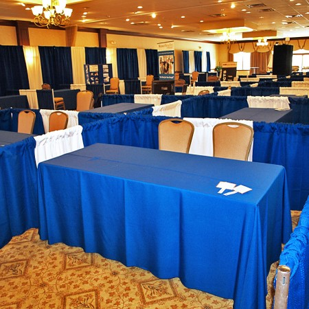 Trade show boothing & linens rentals