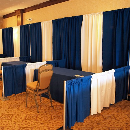 Trade show rentals for boothing, linens - includes set-up